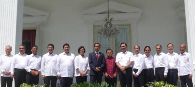 Daftar Resuffle kabinet jilid 2 Jokowi