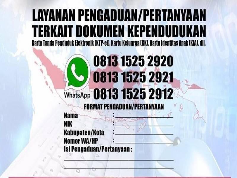 Whatsapp layanan pengaduan Kependudukan