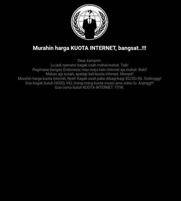 Tarif internet telkomsel mahal, situs kena hack